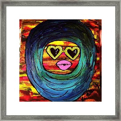 Duck Lips Framed Print