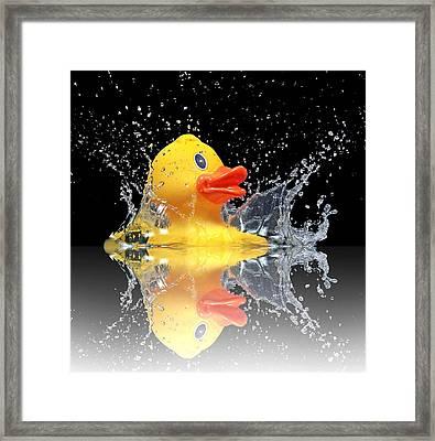 Yellow Duck Framed Print
