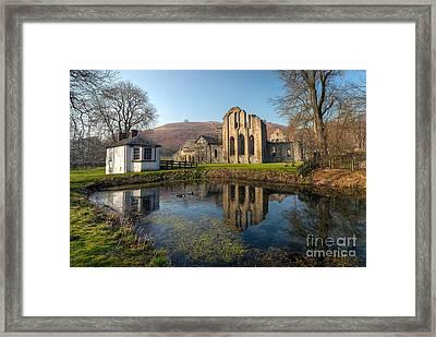 Duck Pond Framed Print by Adrian Evans