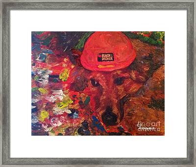 Framed Print featuring the painting Alameda Radar  by Linda Weinstock
