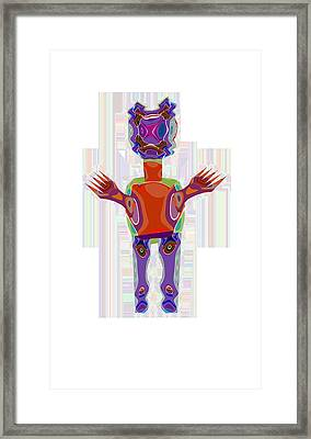 Duckelle Cartoon Character  Alien Monster Art Graphic Design Digital Complex Funny Comic Collage Col Framed Print