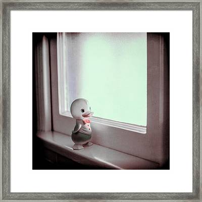 Duckie At The Window Framed Print by Yo Pedro