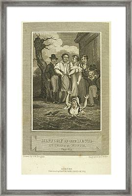 Ducking A Witch Framed Print by British Library