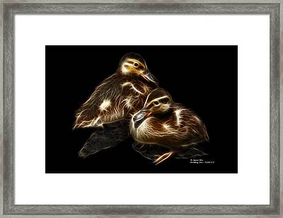 Duckling Duo - 9530 F C Framed Print