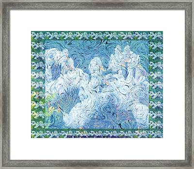 Ducklings At The Farm Framed Print by PainterArtist FIN