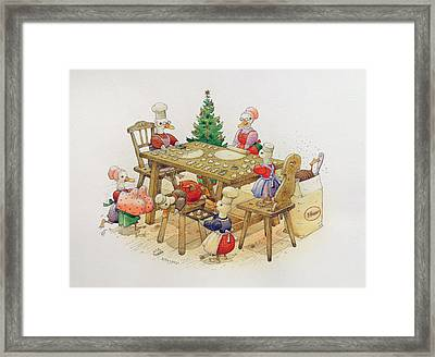 Ducks Christmas Framed Print