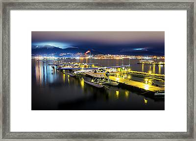 Ducks In A Row Framed Print