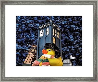 Ducktor Who Framed Print