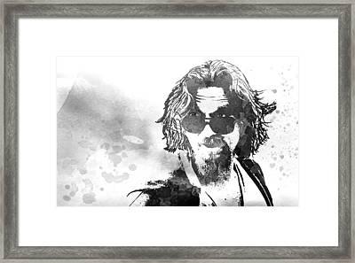 Dude B W Framed Print by Daniel Hagerman