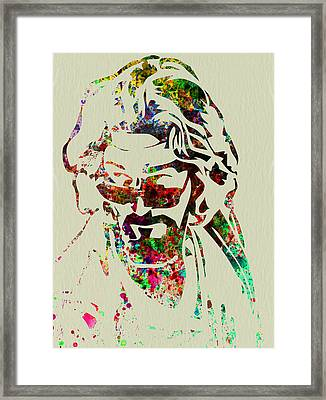 Dude Framed Print by Naxart Studio