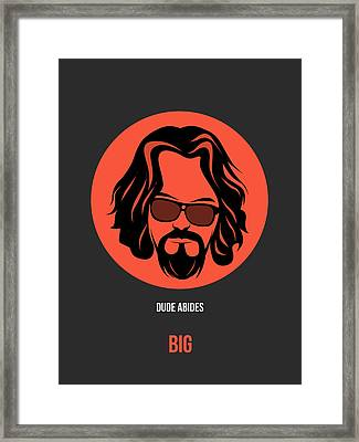 Dude Poster 1 Framed Print by Naxart Studio