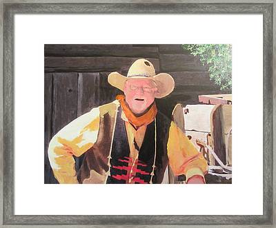 Duded Up Framed Print