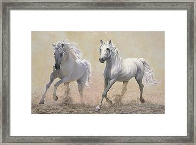 Due Cavalli Framed Print by Danka Weitzen