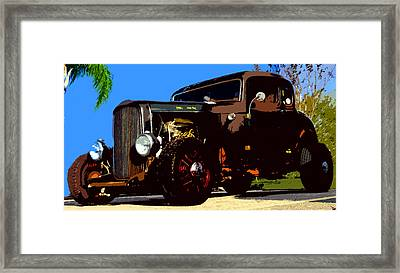 Duece Coupe Framed Print by David Lee Thompson