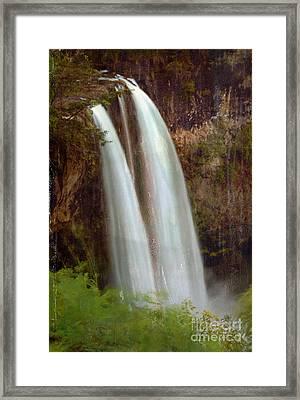 Duel Falls Framed Print