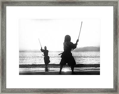 Duel On Ganryu Island Framed Print