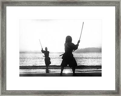 Duel On Ganryu Island Framed Print by Dan Twyman