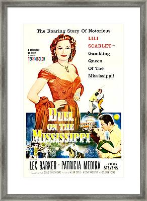 Duel On The Mississippi, Us Poster Framed Print by Everett