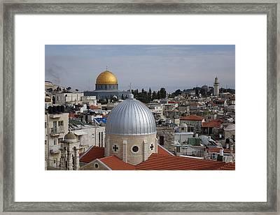 Dueling Faith In Jerusalem Framed Print