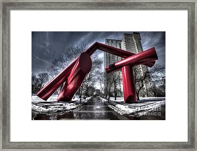 Dueling Tampons - University Of Pennsylvania Locust Walk Framed Print by Mark Ayzenberg