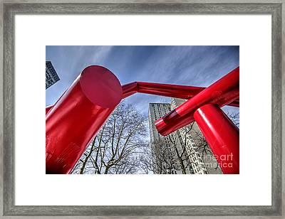 Dueling Tampons Skyshot - Upenn Locust Walk Framed Print by Mark Ayzenberg