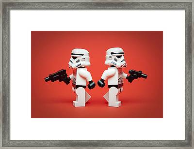 Dueling Troopers Framed Print by Samuel Whitton