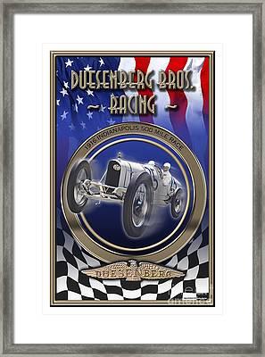 Duesenberg Bros. Racing Framed Print by Ed Dooley
