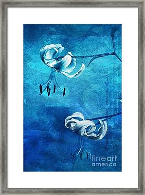 Duet - Blue03 Framed Print by Variance Collections