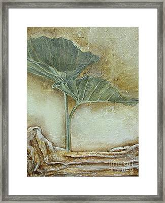 Framed Print featuring the mixed media Duet In Green by Delona Seserman