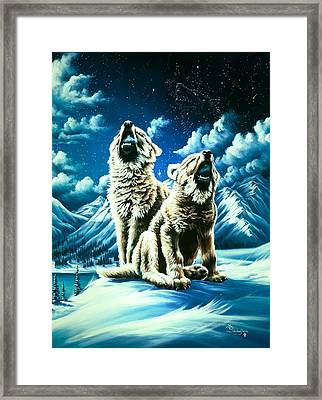 Duet Framed Print by Lori Salisbury