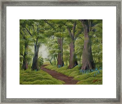 Framed Print featuring the painting Duff House Walk by Charles and Melisa Morrison