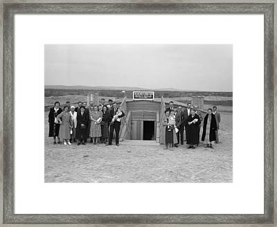 Dugout Church, 1939 Framed Print