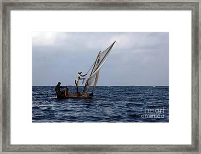 Dugout Sailing Canoe San Blas Islands Panama Framed Print by James Brunker