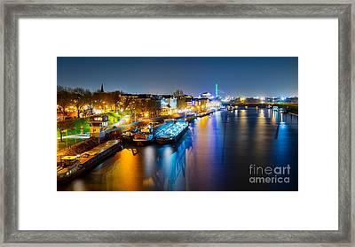 Duisburg Rhine East Bank Dammst Framed Print