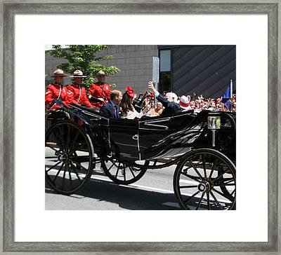Duke And Duchess Of Cambridge Framed Print by Betty-Anne McDonald