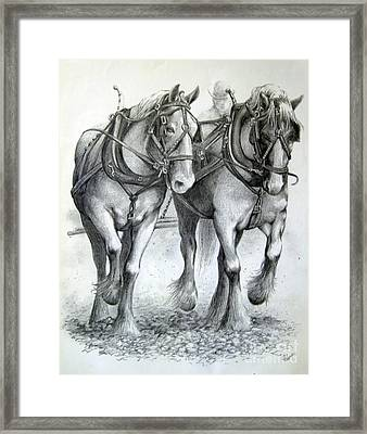 Duke And Molly Framed Print