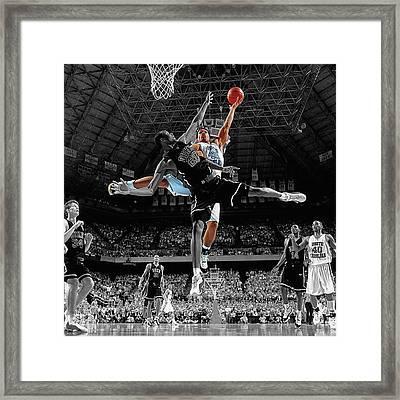 Duke And Unc Basketball Framed Print