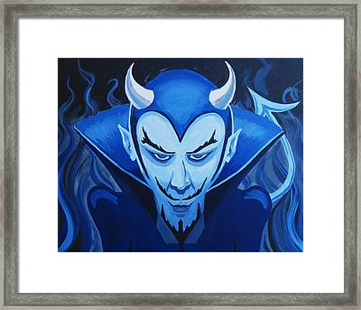 Devil Who Is Blue Framed Print