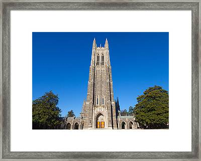 Duke Chapel Framed Print