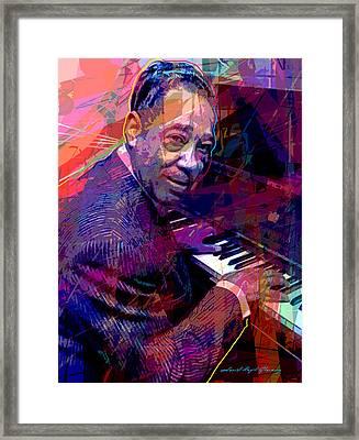 Duke Ellington At The Piano Framed Print by David Lloyd Glover