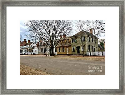 Duke Of Gloucester Street In Williamsburg Framed Print by Olivier Le Queinec