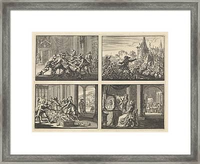 Duke Of Guise Murdered In The Castle At Blois, 1588 Framed Print by Quint Lox