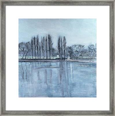 Dukes Meadows, Towards Putney-on-thames Acrylic On Canvas Framed Print