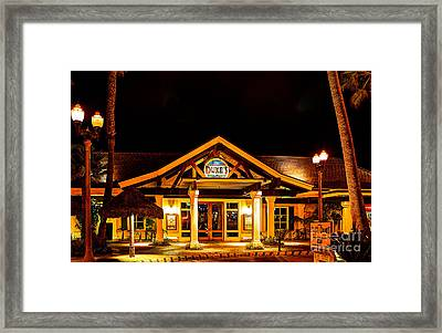 Framed Print featuring the photograph Duke's Restaurant Front - Huntington Beach by Jim Carrell