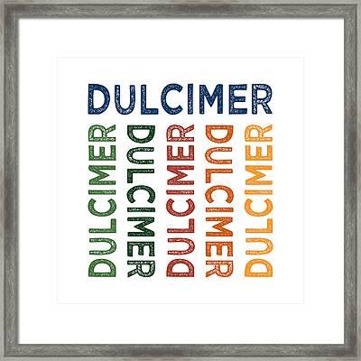 Dulcimer Cute Colorful Framed Print