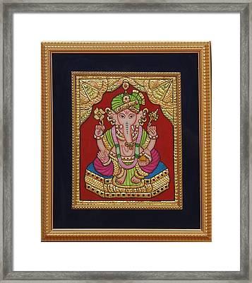 Dulha  Vinayak Framed Print by Vimala Jajoo