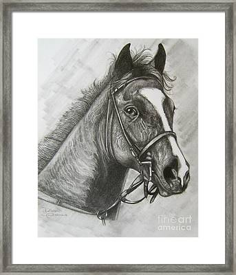 Framed Print featuring the drawing Dullahan by Patrice Torrillo