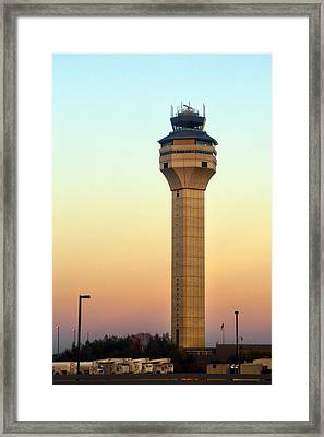 Dulles Airport Traffic Control Tower Framed Print