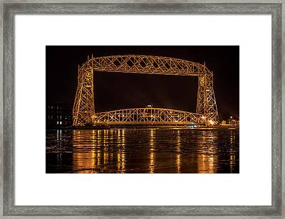 Duluth Aerial Lift Bridge Framed Print by Paul Freidlund
