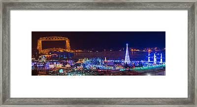 Duluth Christmas Lights Framed Print by Paul Freidlund